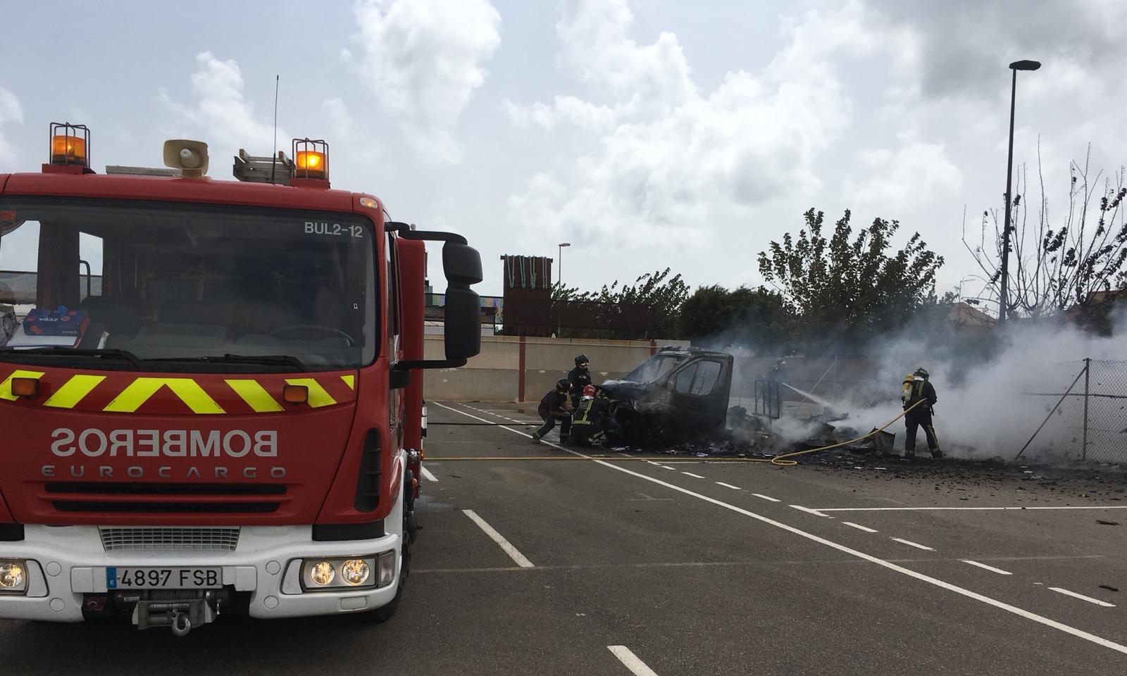 Incendio en autocaravana, Los Narejos