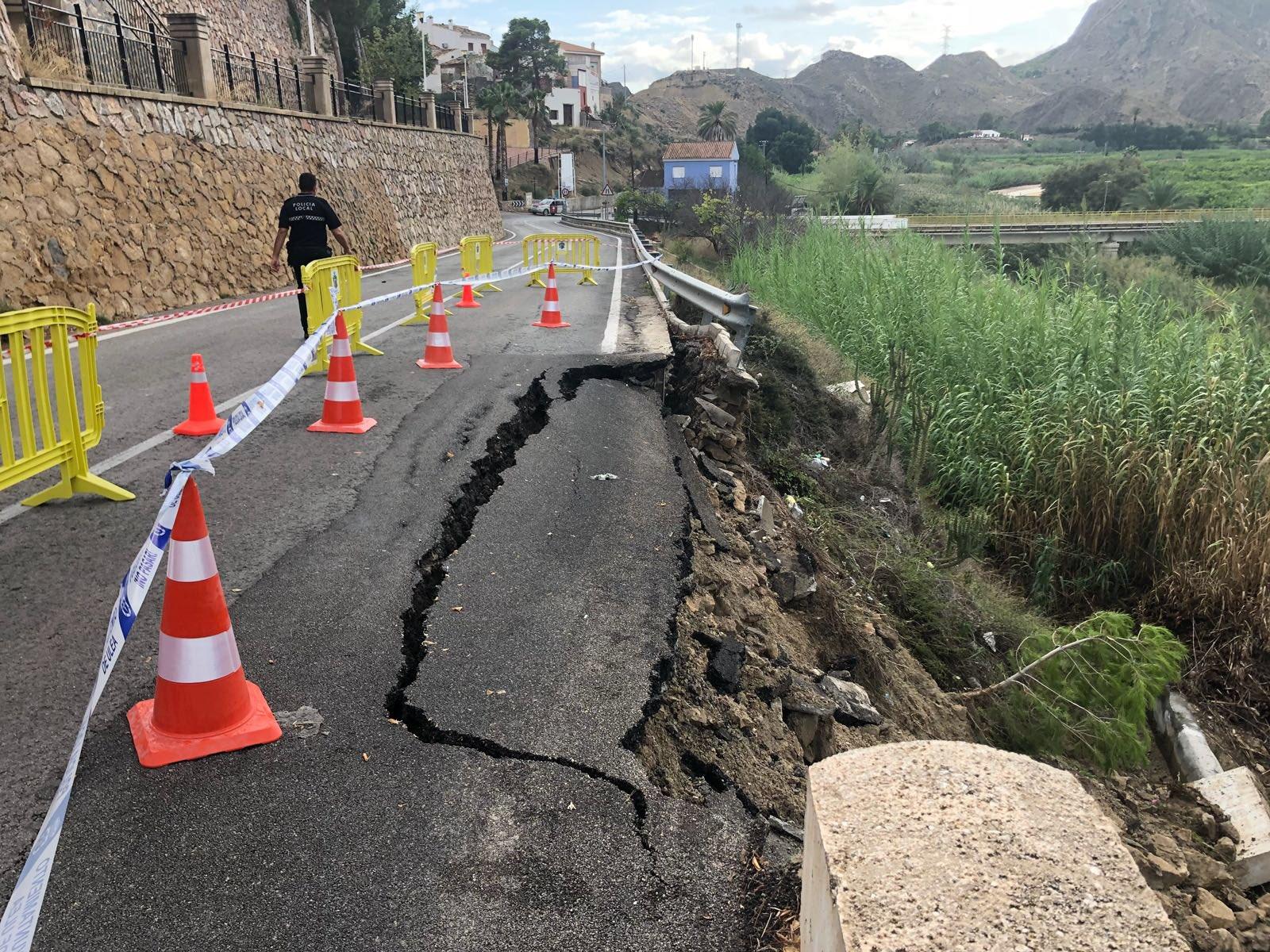 Lluvias en Villanueva del Segura, 2018